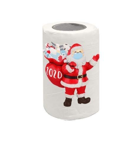 shenruifa 2020 Adorno de Navidad personalizado, 1 rollo de papel higiénico para decoración de papel higiénico divertido y novedoso regalo de papel higiénico