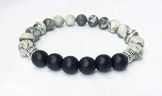 Jasper w Onyx stone bracelets (Blood Dragon stone)