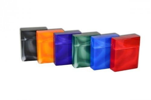SMOKERTOOLS 6 x Zigaretten Big Box ohne Steg marmoriert 25er