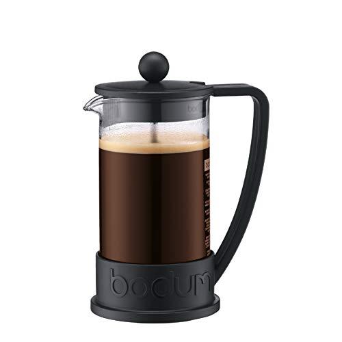 Bodum - 10948-01 - Brazil - Cafetière à Piston 3 Tasses - 0,35 L - Noir