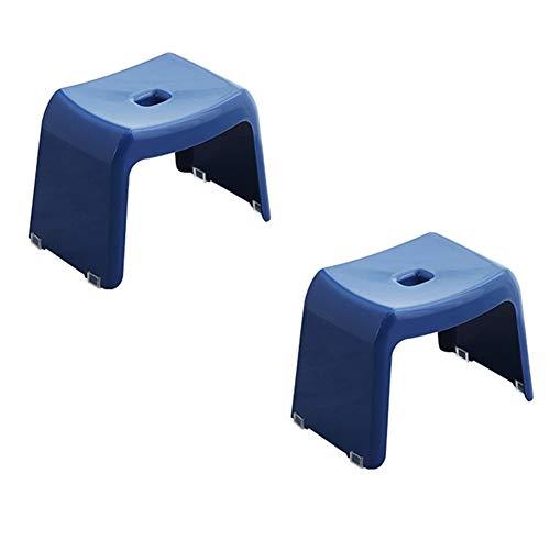 KKCF Asiento para Ducha Estilo Japones El Plastico Antideslizante La Seguridad Silla De Casa Taburete Cuadrado, 4 Colores (Color : Azul, Tamaño : 37.5x24.5x26.5cm)