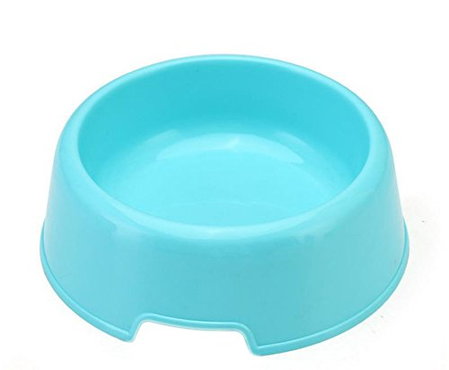 Mackur Kunststoff Harte, Rutschfeste Fressnäpfen Pet Futternapf Utensilien Kaninchen Dish Bowl Feeding Bewässerung Supplies 13,8 * 12 * 4,2 cm 1 Stück, Plastik, Blau