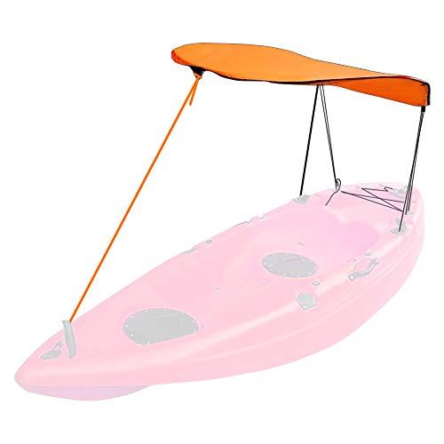 FEPITO Kayak Boat Canoe Toldo Parasol para una Sola Persona (Naranja)