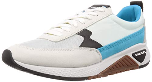 DIESEL SKB S-KB Low Lace II-Sneakers, Zapatillas para Hombre, Star White Hawaiian Ocean-Cáñamo, 42 1/3 EU