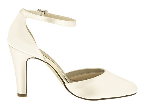 Rainbow Club Brautschuhe Dana – Ivory Satin – Pumps Damen - 4