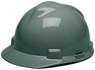 MSA 463948 V-Gard Hard Hats with Staz-On Suspension, Medium, Gray, Standard
