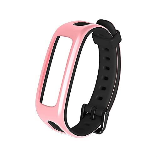 Reloj Correa for Wei Band 4e 3e Hono Band 4 Running Reemplazo Sport Strap Silicone Pulsera de silicona Liberación rápida Pulseras Accesorios (Band Color : Pink black 2)