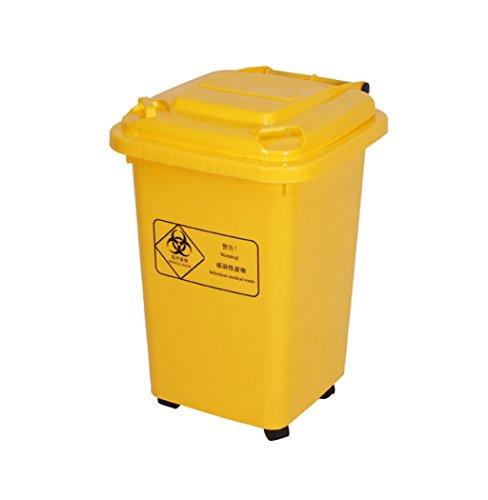 CSQ La poubelle de traitement médical, type médical couvert jaune médical de grande échelle épaississent la poubelle de déchets de traitement médical 30-100L de plein air (taille : 50L)
