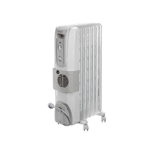 De'Longhi KH770720V Radiatore Elettrico ad Olio, 1500 W, Plastica, Bianco