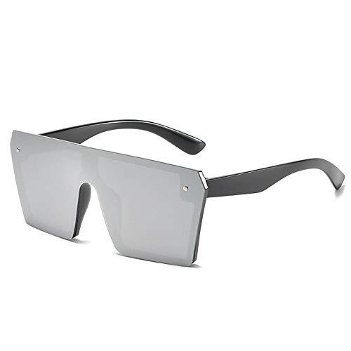 Sonnenbrille Große Rahmen Kunststoff Mode Sonnenbrillen Männer Und Frauen Stück Quadratische Sonnenbrille Reflektierende Retro Sonnenbrille Uv400-Weiß