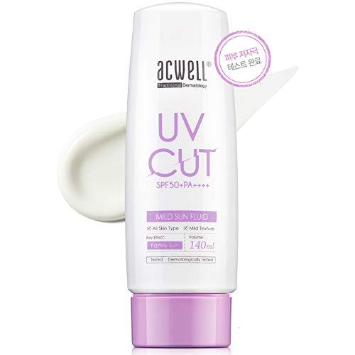 [Acwell]UV Cut Mild Sun Fluid SPF50+/PA++++ 140ml Korean Sunscreen
