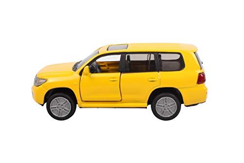 SIKU 1440, Toyota Landcruiser, Metall/Kunststoff, Gelb, Öffenbare Türen, Spielzeugauto für Kinder