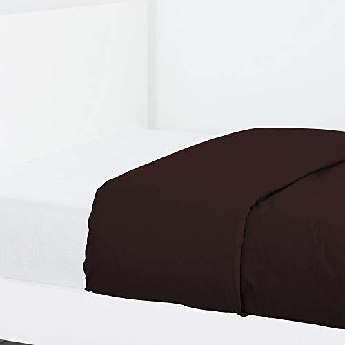 LA MALLORQUINA Funda Nórdica Algodón - Basic Chocolate - Chocolate, Cama 180 o 200 cm - 270x270 cm