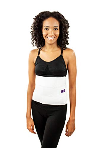 """Surgical Abdominal Binder Compression Wrap – Adjustable Binder 9"""" – Used as a Post Surgery Recovery, Postpartum Belly Wrap, C-Section Recovery Belly Band or Elastic Waist Trainer (by ContourMD)"""