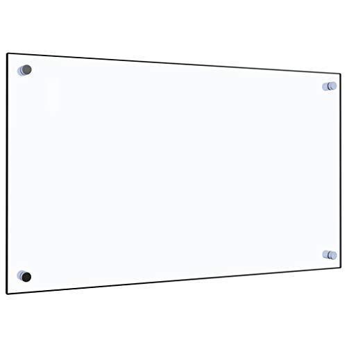 vidaXL Küchenrückwand Spritzschutz Fliesenspiegel Glasplatte Rückwand Herdspritzschutz Wandschutz Herd Küche Transparent 70x40cm Hartglas