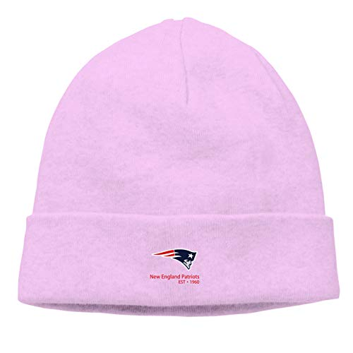 New-England-Patriots Men's Daily Casual Beanie Hat Thin Breathable Lightweight Knitted Fashion Logo Pullover Hat Pink