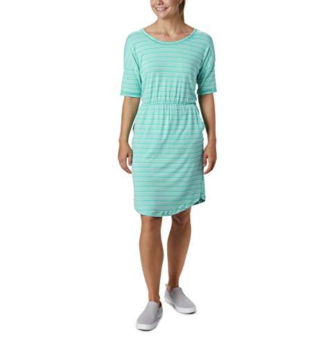 Columbia Slack WaterTM Strickkleid, Damen, Slack Water Knit Dress, Delphin-Streifen, Large