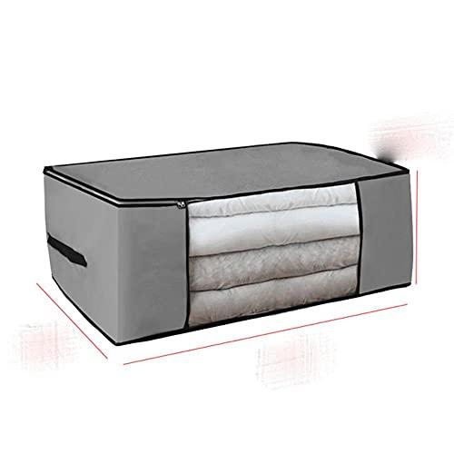 Bolsa de almacenamiento de edredón no tejido engrosado Caja de almacenamiento de ropa Caja de almacenamiento portátil de viaje Organizador de armario plegable ForPillow Blanket-TYPE B1, Estados Unidos
