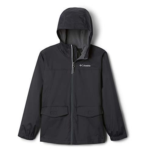 Columbia Boys' Big Rain-Zilla Jacket, Black, X-Small