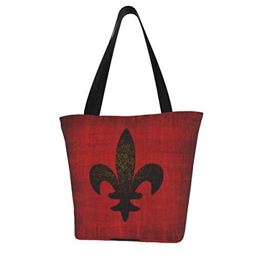 Bolsa de lona personalizada, cojín de terciopelo rojo medieval lavable, bolsa de hombro, bolsa de compras para mujer