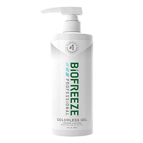 Biofreeze Gel profesional para aliviar el dolor, bomba de 32 oz, verde
