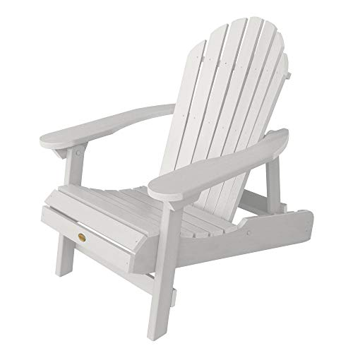 Highwood AD-CHL1-WHE Adulte Adirondack Fauteuil Pliante et Inclinable Bois Synthétique Blanc