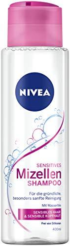 Nivea Champú Mizellen para cabello sensible, sin silicona,