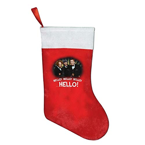 hubin The Three Stooges Hello! Hello! Hello! Christmas Ornaments Bags Socks Gift Bag