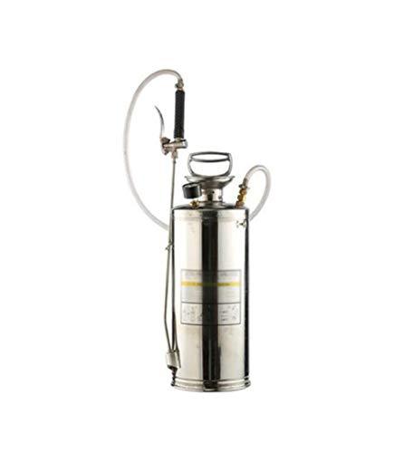 Tuin gieter, huishoudelijke roestvrijstalen spuit, pneumatische handmatige hogedruk gieter, boerderij drenken en besproeien spuitbus, 4L / 6L / 8L / 10L / 15L gieter (Color : Silver, Size : 8L)