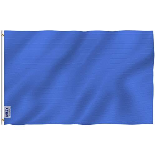 ANLEY Fly Breeze 3x5 voet (90x150 cm) effen marineblauwe vlag - levendige kleuren en UV-lichtbestendig - canvas koptekst en dubbel gestikt - effen koningsblauwe vlaggen polyester met messing oogjes 3 x 5 ft