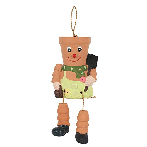Something Different Terracotta Pot Man Planter (One Size) (Multicoloured)