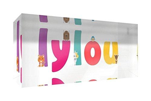Little Helper Souvenir D/écoratif en Acrylique Transparent Poli comme Diamant Style Illustratif Color/é avec le Nom de Jeune Gar/çon Tiago 5 x 15 x 2 cm Petit