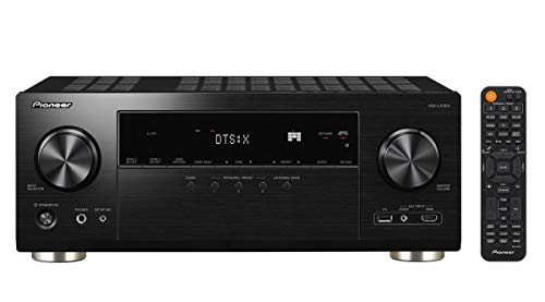 Pioneer VSX-LX304(B) 9.2 AV Receiver (185 W/Kanal, 4K UltraHD Durchleitung, Dolby Atmos, DTS:X, WLAN, Bluetooth, Hi-Res Audio, Streaming, AirPlay 2, Musik Apps, Internet Radio, Multiroom), Schwarz