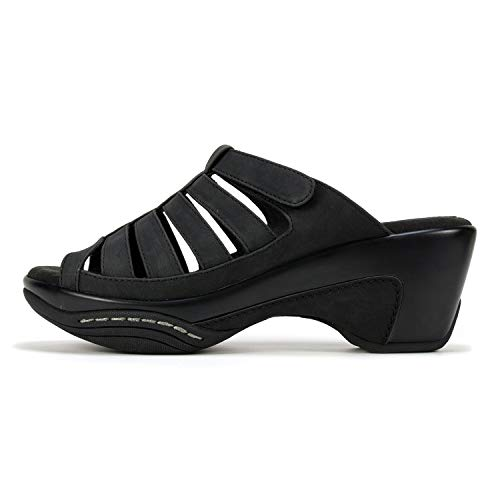 Rialto Women's Valencia Sandal Black/Burn/Smooth Size 7.5M Slide, 7.5