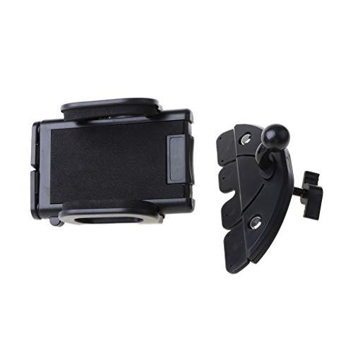 holilest Estante, Soporte Universal para teléfono móvil de 360 ° para automóvil Soporte de Ranura para CD con ventilación de Aire Soporte para teléfono Inteligente