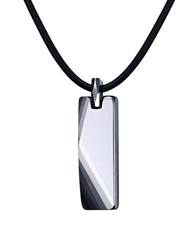vnox carburo de tungsteno geométrico colgante collar 20'