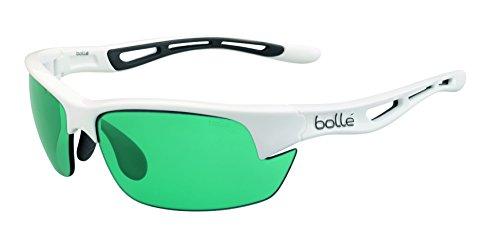 bollé Sonnenbrille Bolt S Gafas de Sol Deportivas, Unisex, Blanco Brillante