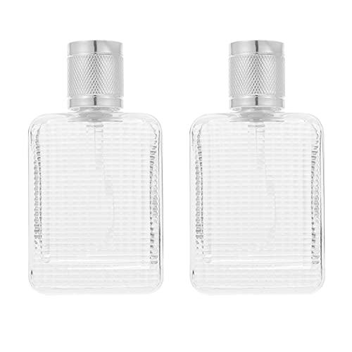 Lurrose 2 Botellas de Perfume Recargables de 37Ml Botella de Pulverizadores de Niebla Fina Botellas Vacías Portátiles de Viaje Dispensador de Espray Vacío Envase Cosmético para Mujeres