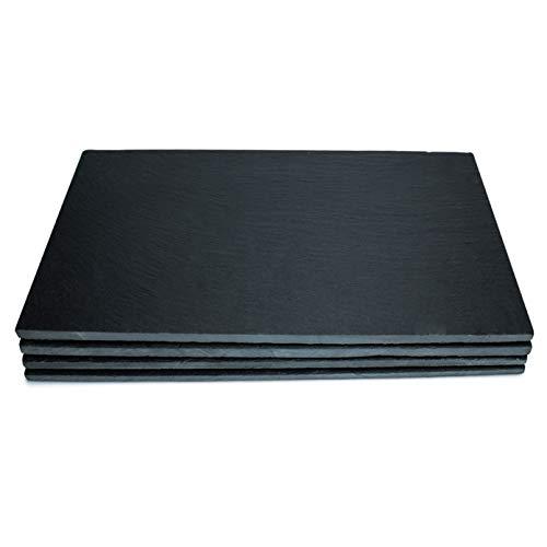 THE CHEF COLLECTION - Platos de pizarra, bajoplatos para servir, (Set de 4). Medida: 32,5x26,5x0,5 cm