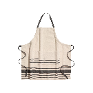 Linen-blend Apron | Beige/gray striped | H&M HOME | H&M US