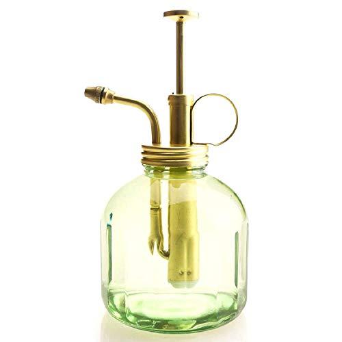 Purism Style Plant Mister Glasflasche und Messingsprüher, matt goldfarben