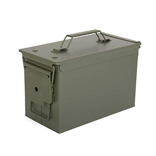 HARDROCK Waterproof Ammo Cans Metal –Army Green Ammo Box Steel –For Shotgun Rifle Nerf Ammunition (50 Cal)