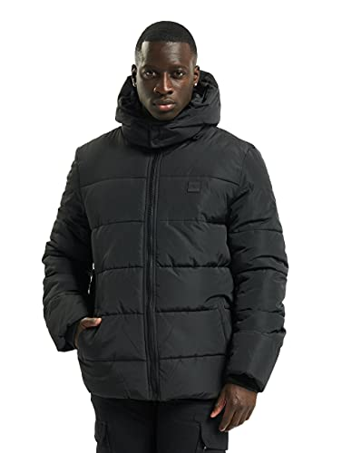 Urban Classics Herren Hooded Puffer Jacket with Quilted Interior Jacke, Black, M