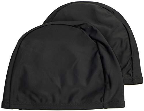 easyglide Cuffie 2 Pack Deluxe Spandex per Costume da Bagno in Tessuto Lycra per Adulto (Nero, Adulto)