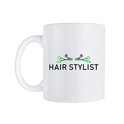 Tasse de coiffeur, tasse de coiffeur, cadeau de coiffure, cadeau de coiffure, cadeau de coiffure, cadeau de travail de salon de coiffure, tasse à café amusante avec poignée, 325 ml
