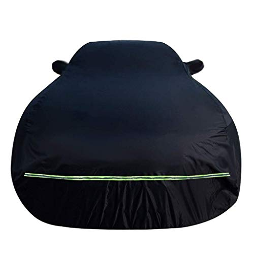 Funda de coche de algodón impermeable Plus Compatible con Volkswagen VW Arteon Atlas CC Eos Jetta Golf GLI GTI Beetle Passat Phaeton R32 Rabbit Routan Tiguan Touareg (Color: Negro, Tamaño: Phaeton)