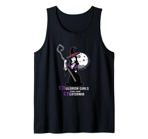 Caldero de la bruja de California cocinero o chef Camiseta sin Mangas
