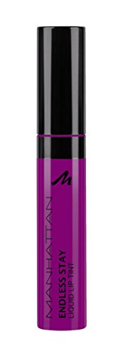 Manhattan Endless Stay Liquid Lip Tint, Langanhaltende, intensive Lippenfarbe, Farbe Berlin Berry 64M, 1 x 7ml