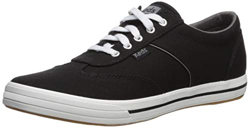 Keds Women's COURTY CORE Canvas Sneaker, Black, 11