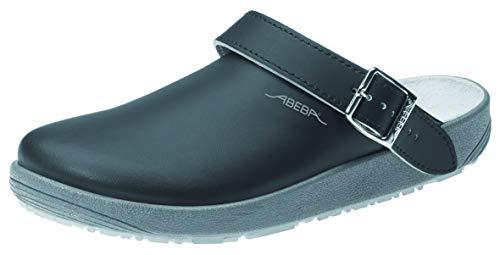Abeba Clog 9252 - rubber Glattleder schwarz, zertifiziert, 44